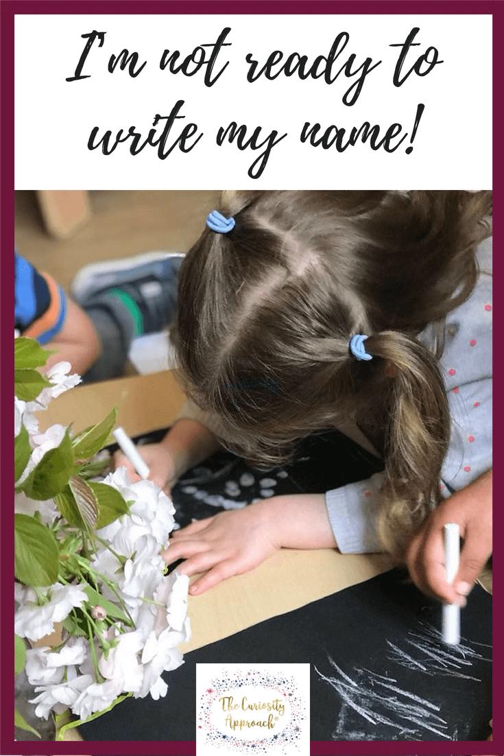 curiosity, write, name , early years